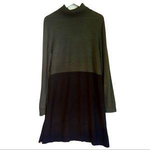 JANE LAMERTON wool mix colour block dress sz 16